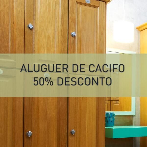 50% desconto no aluguer anual do Cacifo